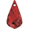 Swarovski Drop 6020 Helix 37mm Red Magma Crystal